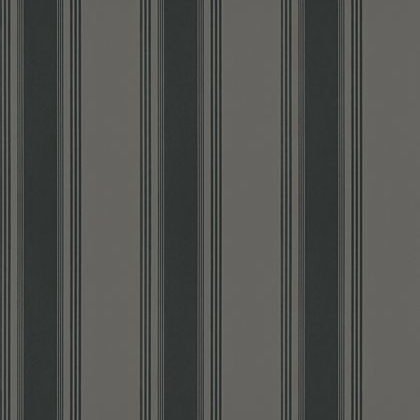 Thibaut Brittany Stripe Wallpaper in Charcoal