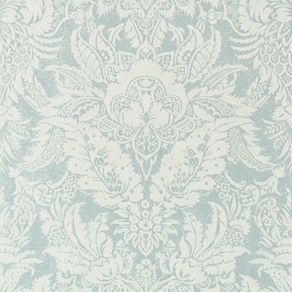 Thibaut Chardonnet Damask Wallpaper in Aqua