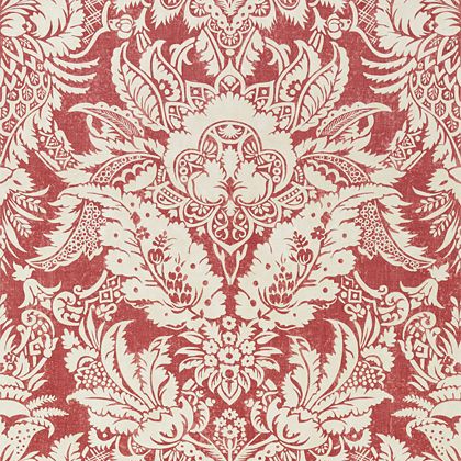 Thibaut Chardonnet Damask Wallpaper in Red