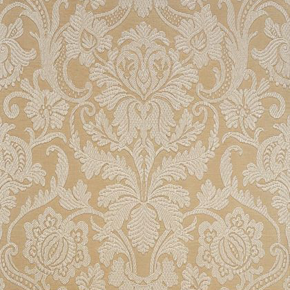 Thibaut Cheryl Wallpaper in Cream on Metallic Champagne