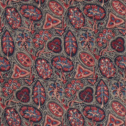 Thibaut Cochin Fabric in Blue & Red