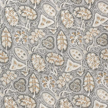 Thibaut Cochin Fabric in Grey