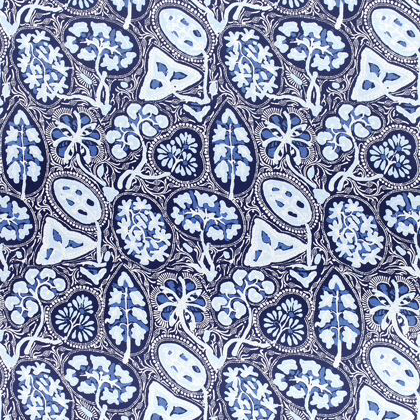 Thibaut Cochin Fabric in Navy