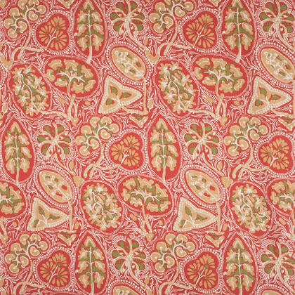 Thibaut Cochin Fabric in Red