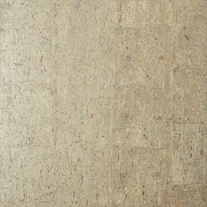 Thibaut Cork Wallpaper In Metallic Pewter