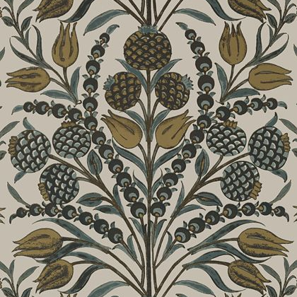 Thibaut Corneila Wallpaper in Grey and Gold