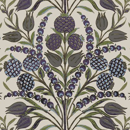 Thibaut Corneila Wallpaper in Purple and Blue
