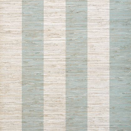 Thibaut Crossroad Stripe Wallpaper in Aqua