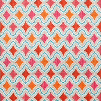Thibaut Cruising Fabric in Orange & Pink