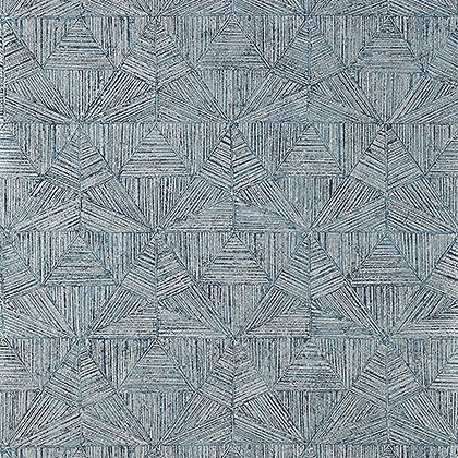 Thibaut Crystalla Wallpaper in Metallic Silver on Mineral