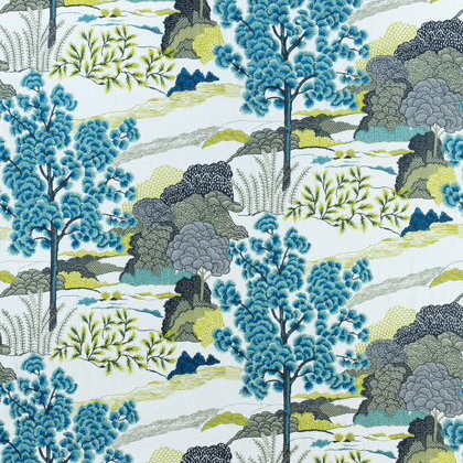 Thibaut Daintree Embroidery in Bluemoon