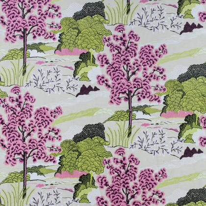 Thibaut Daintree Embroidery in Fuchsia
