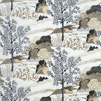 Thibaut Daintree Embroidery in Grey