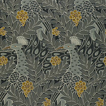 Thibaut Desmond  Wallpaper in Black/Charcoal