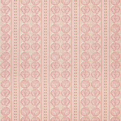 Thibaut Fair Isle Fabric in Red