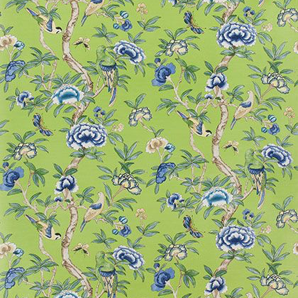 Thibaut Giselle Fabric in Green