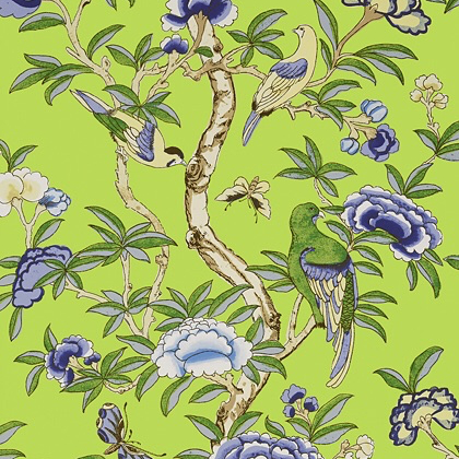 Thibaut Giselle Wallpaper in Green