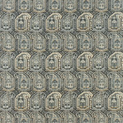 Thibaut Gleniffer Fabric in Black and Grey