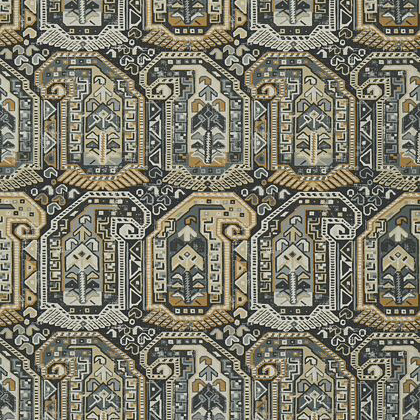 Thibaut Gleniffer Wallpaper in Black and Grey