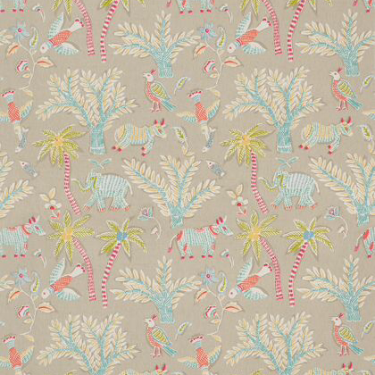 Thibaut Goa Fabric in Beige