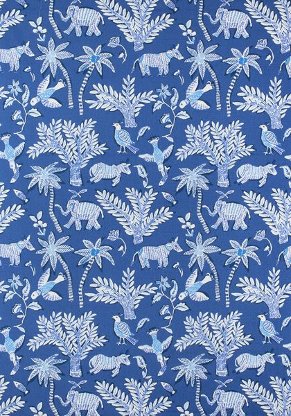Thibaut goa fabric in blue for Fabric retailers