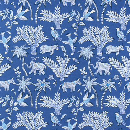 Thibaut Goa Fabric in Blue