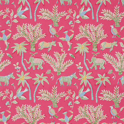 Thibaut Goa Fabric in Pink
