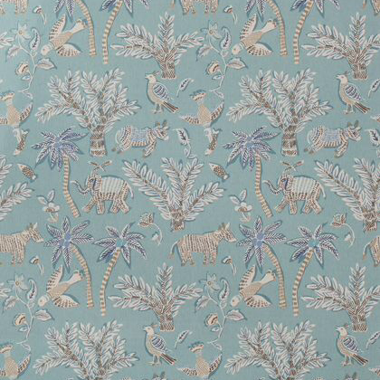 Thibaut Goa Fabric in Teal