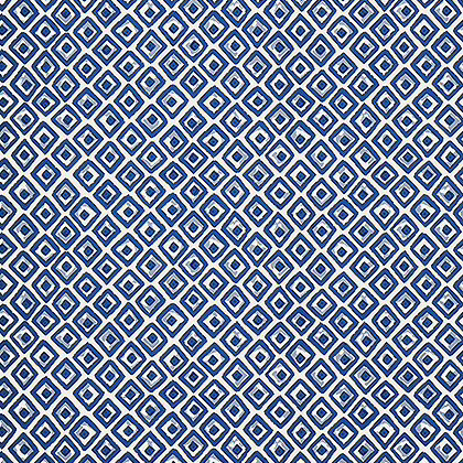 Thibaut Indian Diamond Wallpaper in Blue