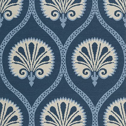 Thibaut Kimberley Wallpaper in Blue and White