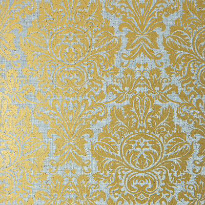 Thibaut Kingsbury Damask Wallpaper In Metallic Silver