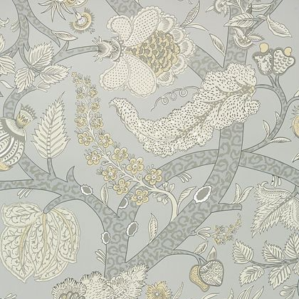 Thibaut Macbeth Wallpaper in Grey