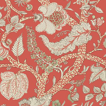Thibaut Macbeth Wallpaper in Red