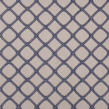 Thibaut Majuli Fabric in Navy on Flax