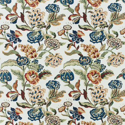 Thibaut Navesink Fabric in Cream on Navy