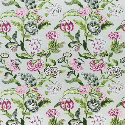 Thibaut Navesink Fabric in Grey and Pink