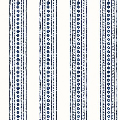 Thibaut New Haven Stripe Wallpaper in Navy