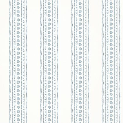 Thibaut New Haven Stripe Wallpaper in Spa Blue