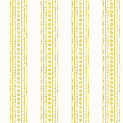 Thibaut New Haven Stripe Wallpaper in Yellow