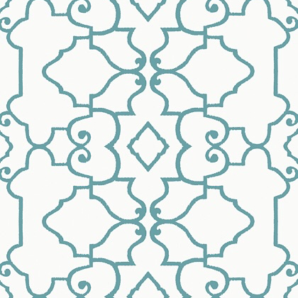 Thibaut Ogden Wallpaper in Turquoise