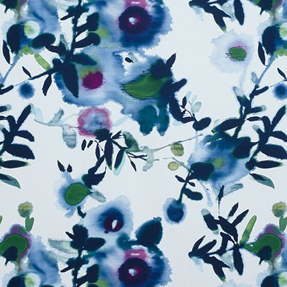 Thibaut Open Spaces Fabric in  Blue