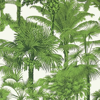 Thibaut Palm Botanical  Wallpaper in  Emerald Green