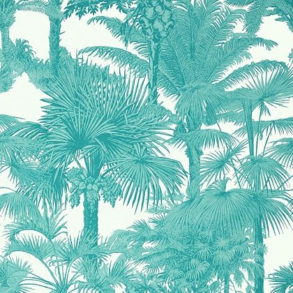 Thibaut Palm Botanical  Wallpaper in  Turquoise