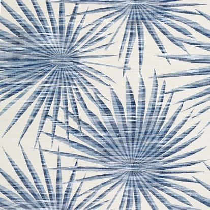 Thibaut Palm Frond Wallpaper in Navy and White
