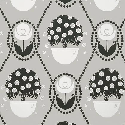 Thibaut Rene  Wallpaper in Black and Beige