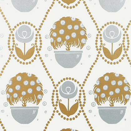 Thibaut Rene  Wallpaper in Metallic Gold and Silver