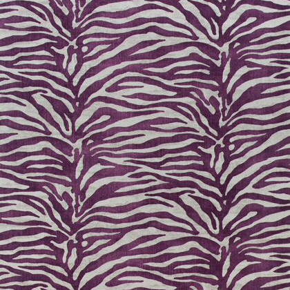 Thibaut Serengeti Fabric in Eggplant