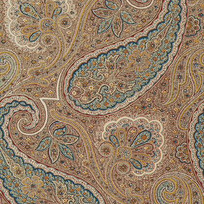 Thibaut Sherrill Paisley Wallpaper in Teal and Beige