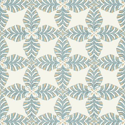 Thibaut Starleaf  Wallpaper in Aqua