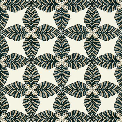 Thibaut Starleaf  Wallpaper in Black